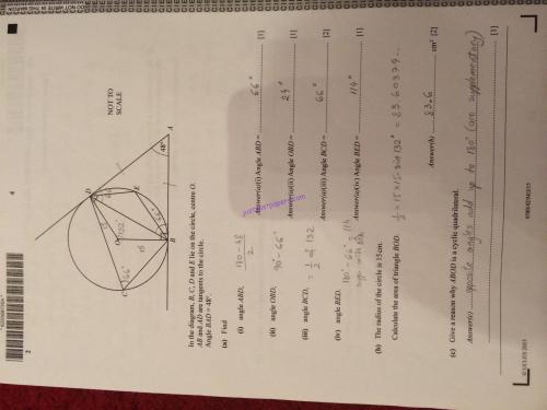 small resolution of CIE – 0580 Mathematics IGCSE Paper 42