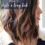 How to Style or Curl a Long Bob | Just Peachy Blog