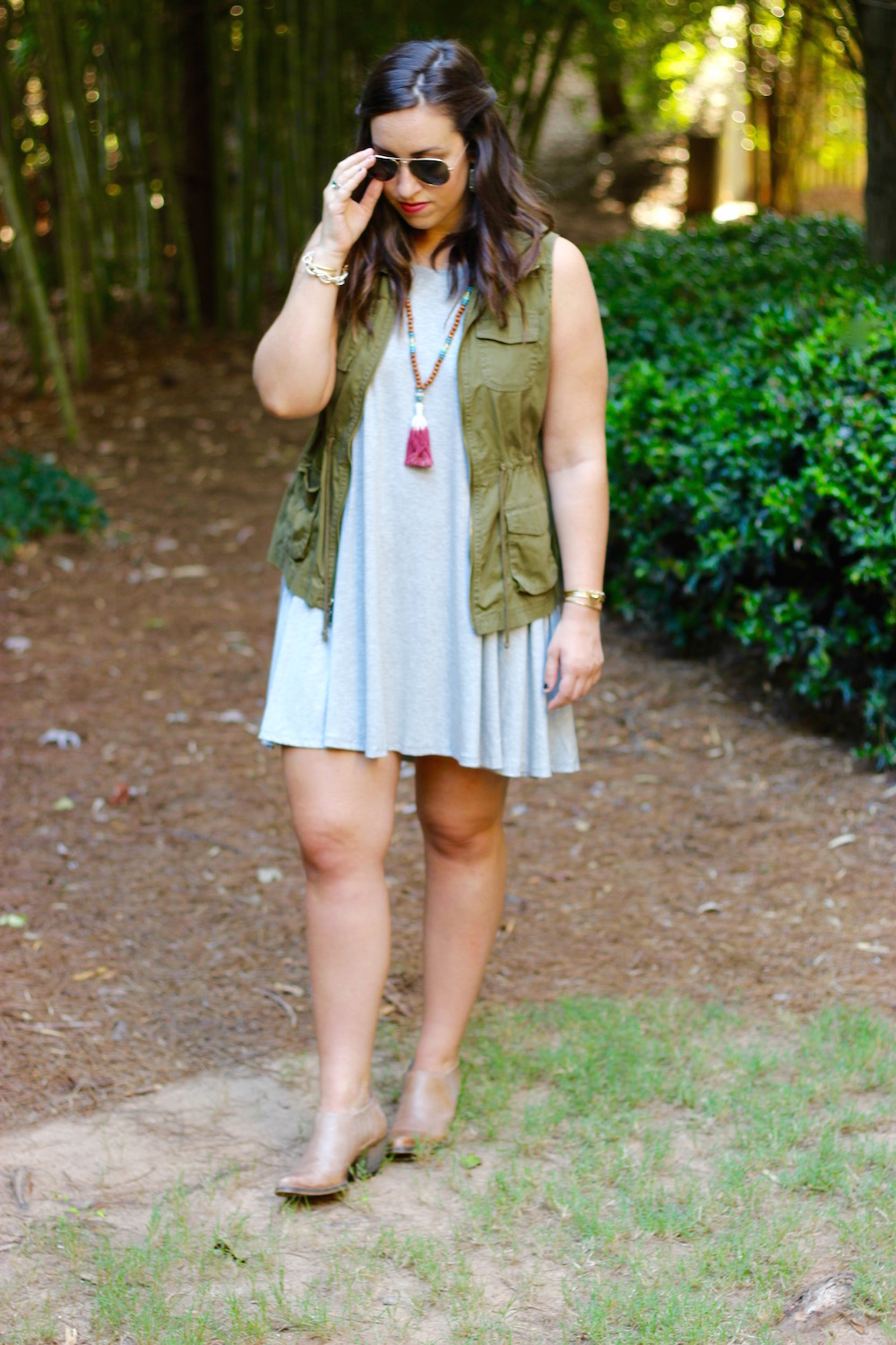 Fall Vest and Dress | Just Peachy Blog