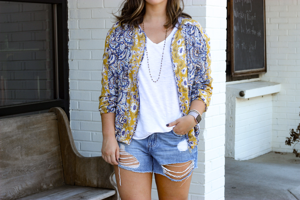 Boho Bus Bomber Jacket | Just Peachy Blog