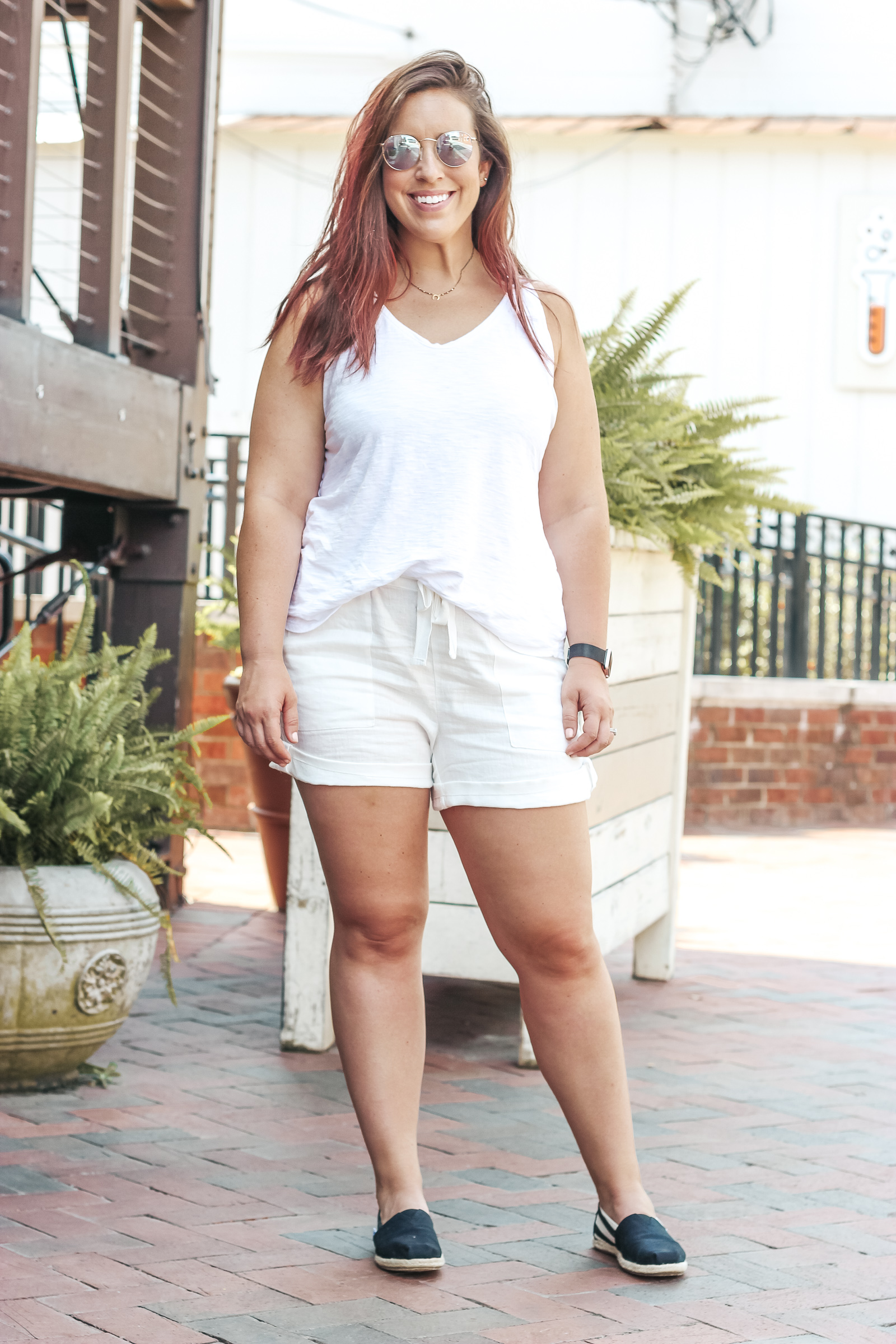 All White Outfit | Just Peachy Blog