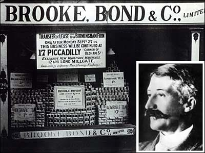 Arthur Brooke , the founder of PG Tips, and the first Brooke Bond store.