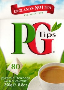 A box of PG Tips tea bags