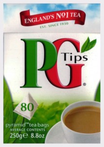 PG Tips box of 80 tea bags.
