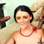 Fourth pic of Sophie Dee interracial anal gangbang & bukakke
