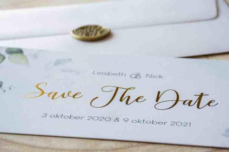 Huwelijk: Save the date