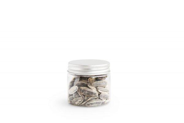 Verpakking: potje zilveren deksel