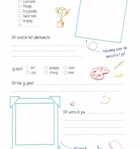 Geschenken: Invulkaart 1 - Achterkant