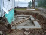 A new, non-pool-based foundation went in