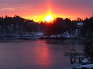 sunrise over Southport Maine