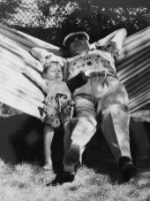 Sam and Grampa 'hammocking'