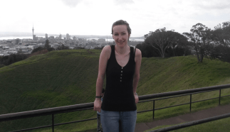 Token touristy picture on top of Mt Eden
