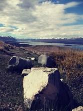 lake tekapo rock