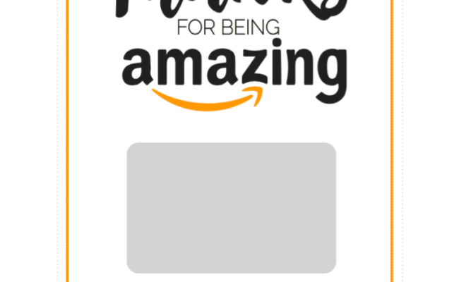Free Printable For An Amazon Gift Card Just Posted