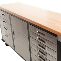 Buy 72 inch Timber Top Roll Cabinet Rolling Garage Storage ...