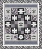 Orleans Collection - Fleur De Lis Pattern - Silver colorway
