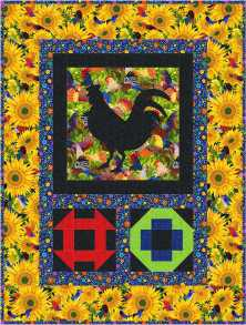 Henpecked wallhanging