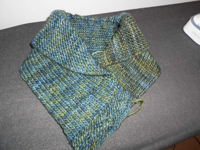 Shawl Collared Cowl progress