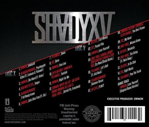 SHADYXV track list