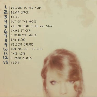 Taylor Swift 1989 Full Tracklisting