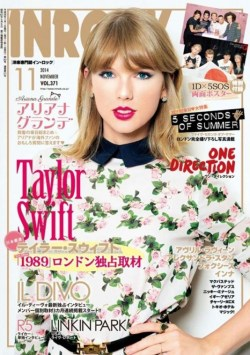Taylor Swift in InRock Japan Magazine cover