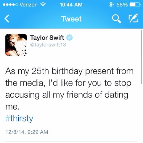 Taylor Swift's Birthday wish