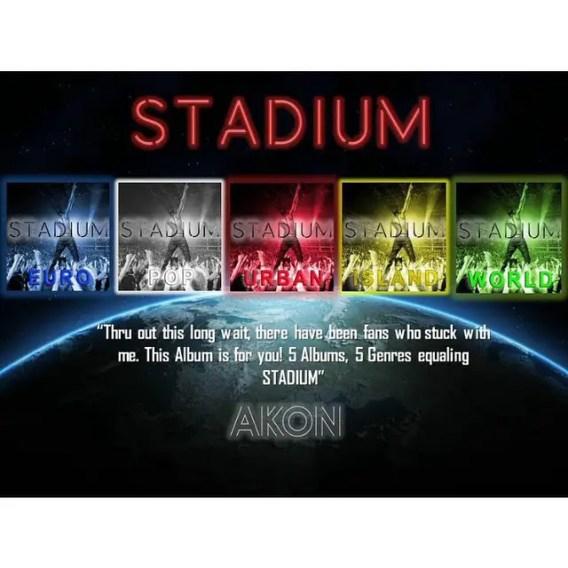 """Akon announces 5 part album """"Stadium"""""""