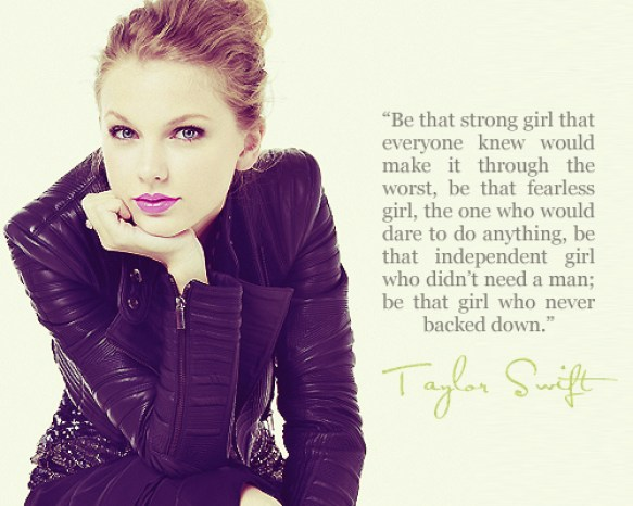 life advises from Taylor Swift
