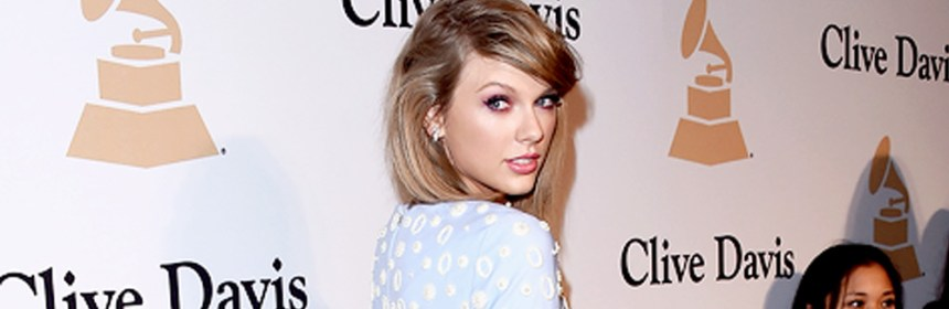 Taylor swift at clive davis pre-grammy party
