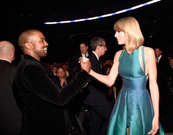 Putting behind past mistakes. Kanye is happy to be friends with Taylor Swift