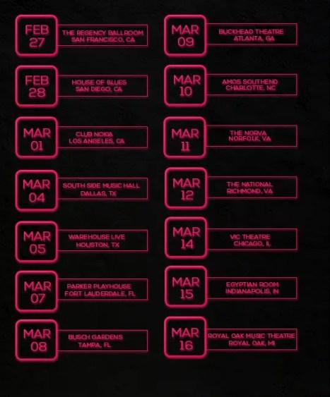 the reflection tour dates