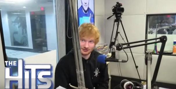 Ed Sheeran admiring 'Long Claw'