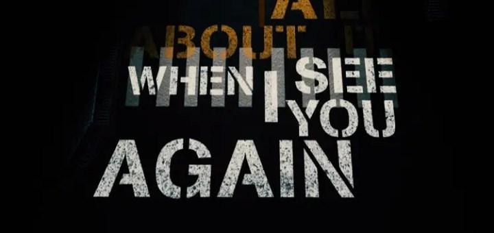 wiz khalifa see you again charlie puth paul walker tribute video