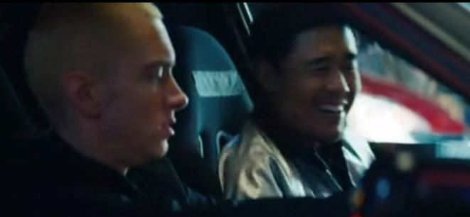 randall park and eminem in phenomenal music video