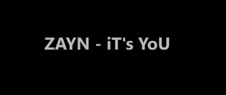 zayn it's you single music video