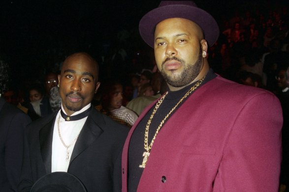 Tupac Shakur and Suge Knight-former members of Death Row Records. like toy soldiers eminem