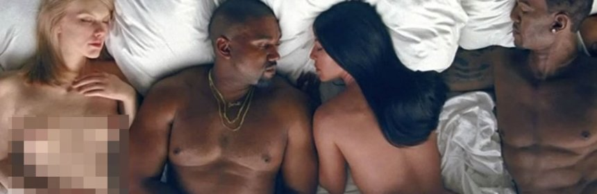 kanye west famous music video taylor swift naked