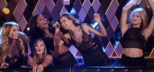 DNCE body moves music video victoria's secret models in lingerie