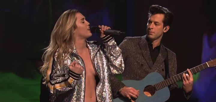miley cyrus mark ronson nothing breaks like a heart live saturday night live