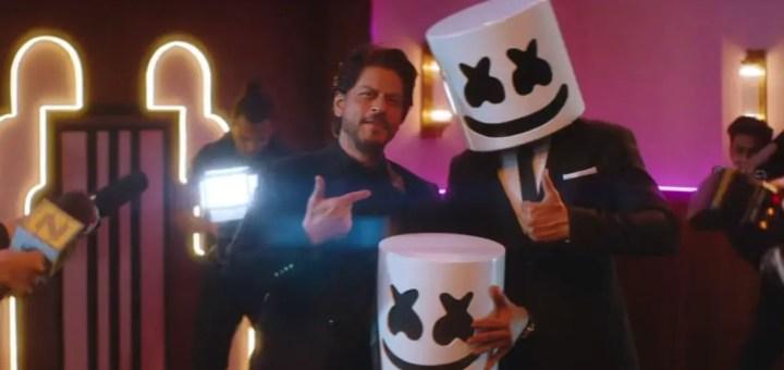 marshmello Shah Rukh Khan biba video