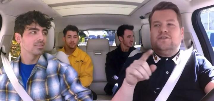 jonas brothers carpool karaoke james corden