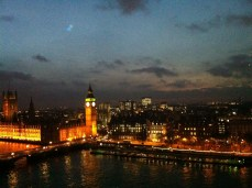 Big Ben e London Parliament visti dalla London Eye