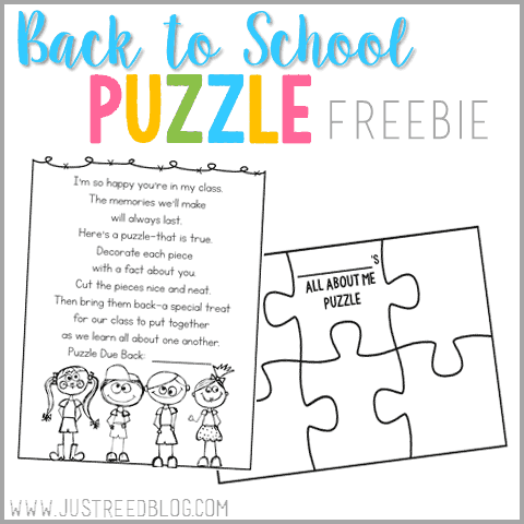 This fun poem can be mailed to students over the summer or sent home on the first day. Students make an All About Me Puzzle to share with their classmates. These puzzles in individual envelopes also make a fun center activity so students can get to know classmates!