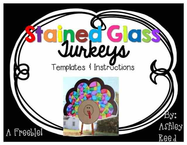 http://www.teacherspayteachers.com/Product/Stained-Glass-Turkey-Template-FREEBIE-977048