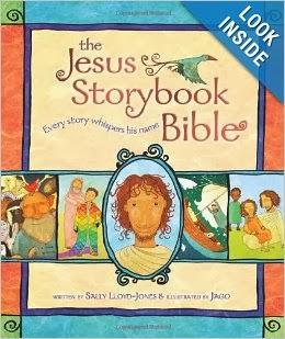 http://www.amazon.com/The-Jesus-Storybook-Bible-Whispers/dp/0310708257/ref=sr_1_1?ie=UTF8&qid=1388539602&sr=8-1&keywords=jesus+storybook+bible