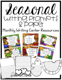 https://www.teacherspayteachers.com/Product/Writing-Centers-Seasonal-Prompts-and-Paper-1899812