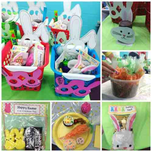 easter party collage