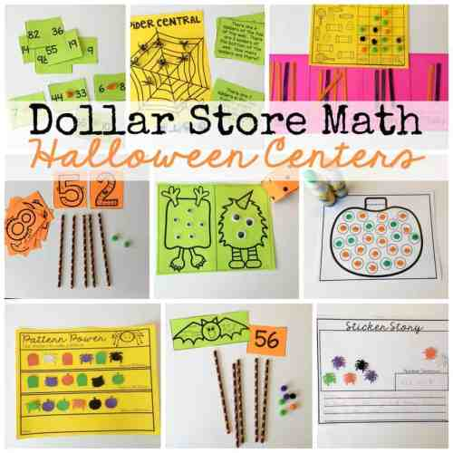 What happens when you combine dollar store trinkets with low ink printables? Halloween Math Centers!