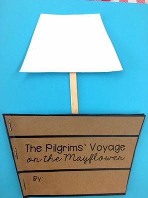 Print and Go Mayflower Book Craft with nonfiction text and written responses