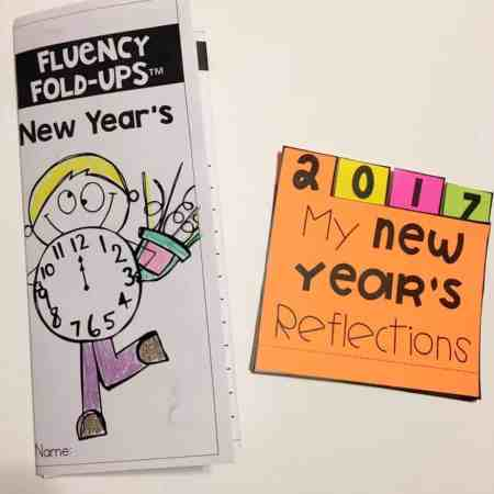 This tabbed book allows students to reflect on last year and anticipate the new year. (Updated yearly)